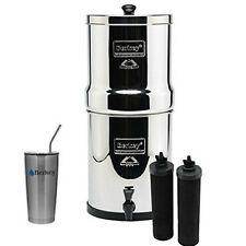Royal Berkey Water Filter System w/ 2 Black Berkey Elements & 20 oz SS Cup