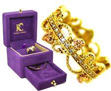 Clogau Welsh 9ct Yellow Kensington Diamond Band Ring Size N