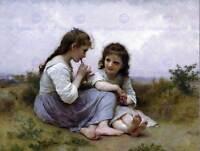 WILLIAM ADOLPHE BOUGUEREAU CHILDHOOD IDYLL 1900 OLD ART PAINTING PRINT 3102OMB