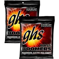 GHS ML3045 Boomers Roundwound Medium Light Electric Bass Strings (45-100) 2-Pack
