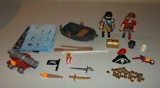 Playmobil Pirates 5894 - Figures, Boat, Treasure, More - No Case