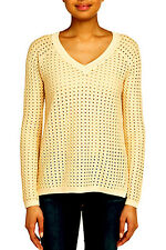 "$178 BCBG POWDER ""KENT"" V-NECK SWEATER TOP NWT XS"