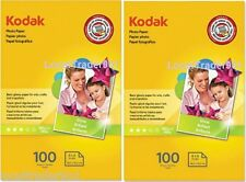 KODAK PHOTO PAPER GLOSS 200 SHEETS 4x6 Lexmark Dell Epson HP Canon 48 lb