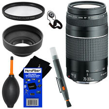Canon EF 75-300mm f/4-5.6 III Telephoto Zoom Lens f/ EOS 7D, 40D, 60D, 70D + kit