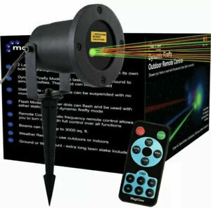 Laser Outdoor Projector Remote Control Dynamic FireFly Party Green & Red Lights