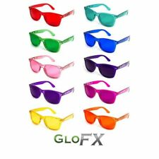 GloFX Color Therapy Glasses 10-Pack Chromotherapy Sunglasses w/ UV400 Protection