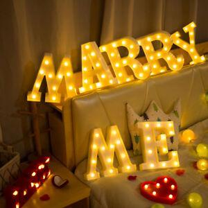 Light Up Letter LED Alphabet PlasticParty Sign Wedding Festival Stand Decoration