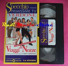 VHS film VIAGGI DI NOZZE Carlo Verdone Claudia Gerini SPECCHIO (FP3*) no dvd