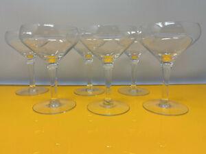 Set of 6 coupe champagne glasses barware