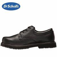 Mens Dr. Scholl's Harrington II Work Shoe BLK Leather Slip-Resist All SZs NIB