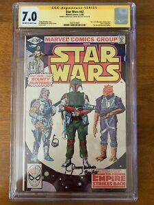 STAR WARS #42 (Marvel, 1980) CGC SS 7.0 SIGNED & SKETCH JEREMY BULLOCH ONLY 1/3