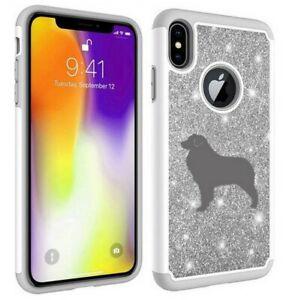 For Apple iPhone Glitter Bling Shockproof Protective Case Australian Shepherd
