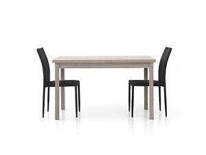 Table 1564 Extensible Oak Grey CMS 130x80x76H Closed