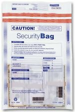 Clear Single Pocket  Security Deposit Bag with Unique Serial Numbers 53849