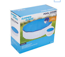 Summer Waves Adjustable Solar Pool Cover for 10-15ft Inflatable & Frame Pools