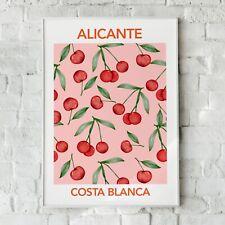 Alicante Print, Kirschen Print, Fruit Wandkunst, Heim Dekor