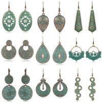 Ear Bohemian Stud Ethnic Bronze Women Tribal Hook Carved Dangle Retro Earrings