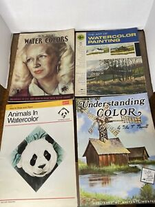 VTG foster art books lot How to Paint Water Color instruction artist Gold Press