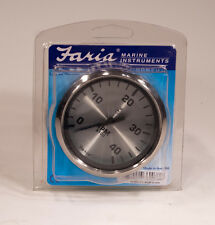 "Faria 4"" Spun Silver 4000 RPM Tach (Mag Pick-up) for Diesel #36007"