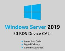 Windows Server 2019 50 Device CAL RDS Remote Desktop Services Fast Delivery