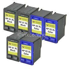 6x PSC 1415 F378 F380 F2180 F4180 F4185 F4188 Tinte Refill Hp21 22XL Drucker
