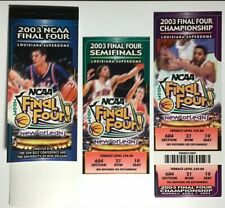 2003 NCAA FINAL FOUR GAME TICKETS SYRACUSE KANSAS TEXAS MARQUETTE NOLA