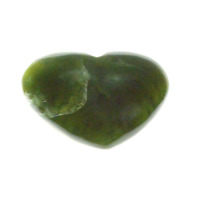 Nephrite Jade Carved Heart B008-22 50mm Health Wealth Happiness Good Luck