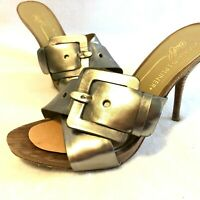 "Donald J. Pliner Elaine Size 6.5M 4"" Open Toe High Heel Leather Sandals - Shoes"
