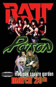 RATT & POISON REPLICA *MADISON SQUARE GARDEN* 1987 CONCERT POSTER