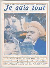 revue Je sais tout n°20 du 15 septembre 1906  Conan Doyle Hildesheim