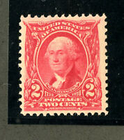 US Stamps # 301 2c Washington SUPERB OG NH P.O. Fresh Choice