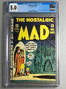 Nostalgic MAD 1 - CGC 5.0 - EC Comics 1972 - Reprints MAD 1 - 2nd Highest Graded