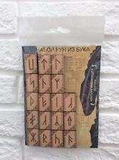 Set of Scandinavian runes 25 pieces. Набор скандинавских рун из бука