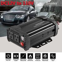 Solar Power Inverter 1200W Peak 12V DC To 110V AC Modified Sine Wave Converter
