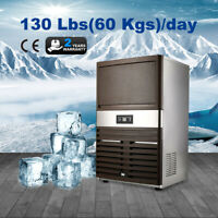 Stainless Steel Commercial 130Lbs Undercounter Ice Maker Machine Air Cooled Cube