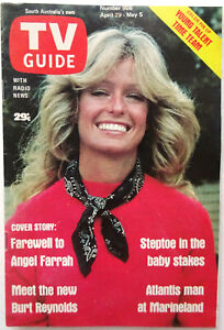 FARRAH FAWCETT - TV Guide Magazine - South Australian 1978 Cover - Rare