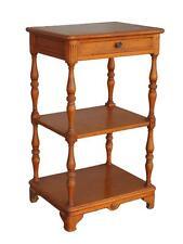 Table de chevet en bois tourné bois blanc