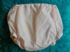 Vtg Baby Girls Vinyl Plastic Pants Diaper Cover/Bloomer Pale Pink Dot 0-6 Month?