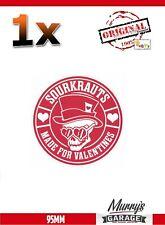SOURKRAUTS KRAUTS Sticker made Valentines 95mm Aufkleber Sticker Tuning VAG DUB
