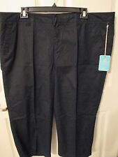 NWT - CARIBBEAN JOE women's Black Capri pants - sz 22W - MSRP $48.00
