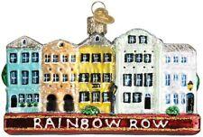 Old World Christmas 20100 Glass Blown Rainbow Row Ornament