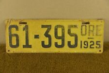 1925 Oregon License Plate Ford Buick Dodge Brothers Chevy