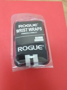 "Rogue Fitness Wrist Wraps, Small 12"", B & W Power/Weight Lifting, Crossfit WOD"