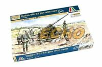 ITALERI Military Model 1/72 Soldiers WWII Italian 90/53 gun with crew 6122 T6122