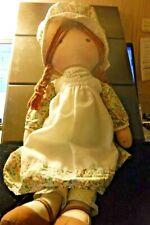"Vintage Hollie Hobbie Rag Doll 1970'S Heather 16"""