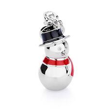 ROSATO ciondolo charm pupazzo di neve MY HOLIDAYS argento zirconi smalti HL019