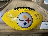 Mike Wagner Autographed/Signed Football TSE COA Pittsburgh Steelers