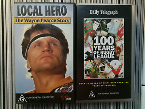 100 Years of Rugby League VHS + The Wayne Pearce Story Loca Hero VHS VGC
