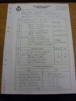 06/05/2000 The Football League Team Sheet: Rotherham United v Swansea City (Carb