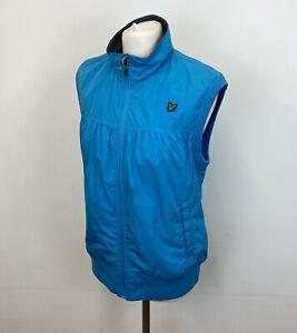 Lyle & Scott Golf Gilet Bodywarmer Jacket Blue Sz Large Ladies